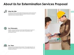 About Us For Extermination Services Proposal Ppt Powerpoint Icon