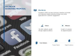 About Us For Facebook Marketing Proposal Ppt Powerpoint Slides Smartart