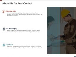 About Us For Pest Control Ppt Powerpoint Presentation Styles Graphics