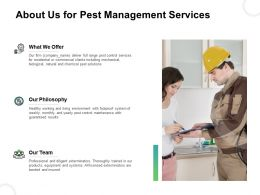 About Us For Pest Management Services Ppt Powerpoint Presentation