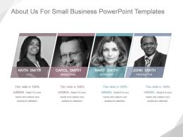 About Us For Small Business Powerpoint Templates