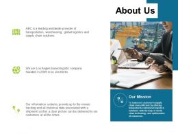 About Us Information Transportation L76 Ppt Powerpoint Presentation Styles Grid