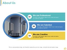 About Us Management Planning Ppt Summary Design Templates