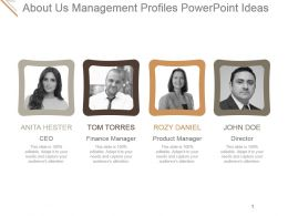 About Us Management Profiles Powerpoint Ideas