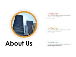 About Us Market Analysis For New Product Ppt Styles