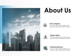 About Us Our Company A78 Ppt Powerpoint Presentation Icon Deck