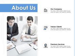 About Us Our Company K108 Ppt Powerpoint Presentation Diagram Graph