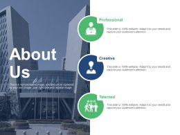 About Us Our Company Management Ppt Presentation Slides