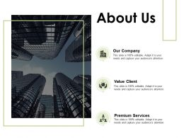 About Us Our Company Premium Services C583 Ppt Powerpoint Presentation Gallery Example File