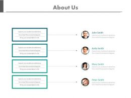 About Us Page With Team Introduction Powerpoint Slides