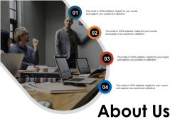 About Us Planning L131 Ppt Powerpoint Presentation Styles Template