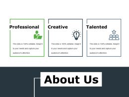 About Us Ppt File Infographic Template