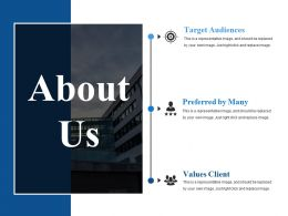 About Us Ppt Infographics