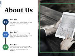 About Us Ppt Infographics Portrait