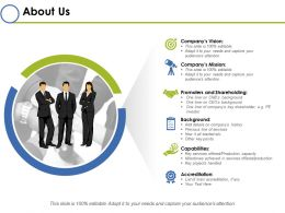About Us Ppt Infographics Smartart