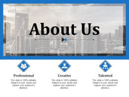 About Us Ppt Slide Template