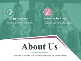 About Us Ppt Slides Brochure