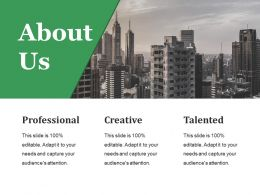 About Us Ppt Styles Infographic Template