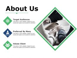 About Us Ppt Summary Infographic Template