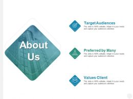 About Us Preferred By Many B192 Ppt Powerpoint Presentation Diagram Graph Charts