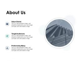 About Us Preferred By Many F188 Ppt Powerpoint Presentation Outline Grid