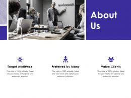 About Us Preferred By Many F807 Ppt Powerpoint Presentation Pictures Inspiration