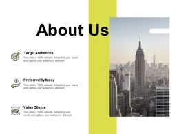 About Us Preferred By Many K99 Ppt Powerpoint Presentation Ideas Deck