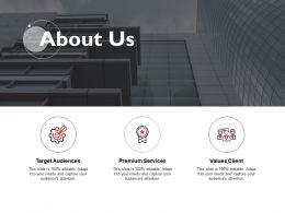 About Us Premium Services Client Management K244 Ppt Powerpoint Presentation