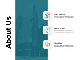 About Us Premium Services I383 Ppt Powerpoint Presentation Summary Template