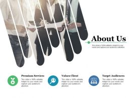 About Us Premium Services Target Audiences