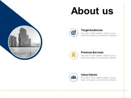 About Us Premium Services Value Clients G5 Ppt Powerpoint Presentation Visual Aids