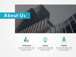 About Us Professional Creative C614 Ppt Powerpoint Presentation File Design Inspiration