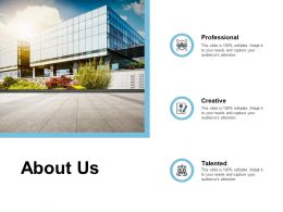 About Us Professional Creative K382 Powerpoint Presentation Design