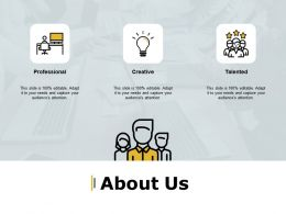 About Us Professional Creative Talented A14 Ppt Powerpoint Presentation