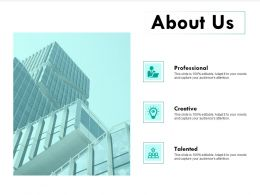 About Us Professional I267 Ppt Powerpoint Presentation Samples