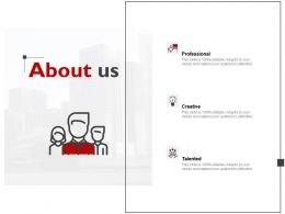 About Us Professional J163 Ppt Powerpoint Presentation Diagram Ppt