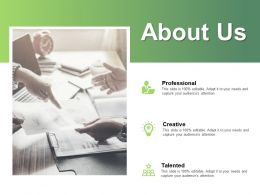 About Us Professional L301 Ppt Powerpoint Presentation Inspiration Topics