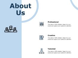 About Us Professional Talented C815 Ppt Powerpoint Presentation Styles Gridlines