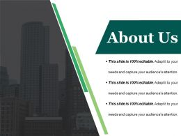 About Us Sample Of Ppt Presentation