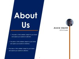 About Us Sample Of Ppt Presentation Template 1