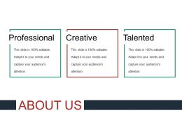 About Us Sample Of Ppt Template 2