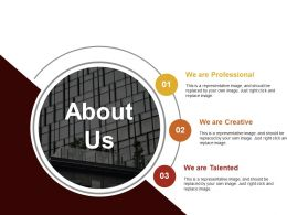 About Us Sample Presentation Ppt