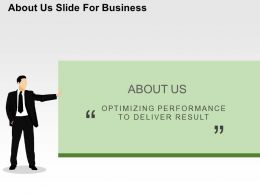 About Us Slide For Business Flat Powerpoint Design