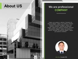 About Us Slide For Professional Company Powerpoint Slide