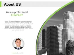 About Us Slide For Professional Company With Business People Powerpoint Slide
