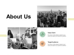 About Us Target Audience A424 Ppt Powerpoint Presentation Model Topics