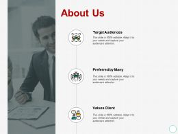 About Us Target Audience A424 Ppt Powerpoint Presentation Outline Templates