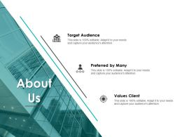 About Us Target Audience B86 Ppt Powerpoint Presentation Diagram