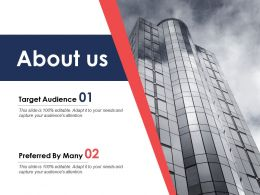 About Us Target Audience C404 Ppt Powerpoint Presentation Styles Sample