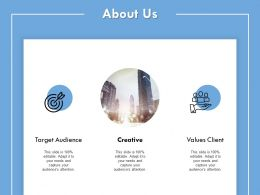 About Us Target Audience I146 Ppt Powerpoint Presentation File Show